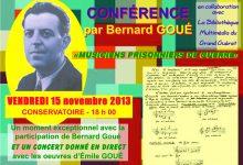 Conférence par Bernard Goué