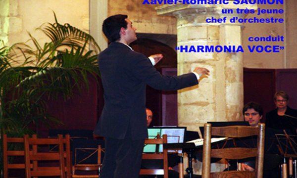 Xavier Saumon, un très jeune Chef d'orchestre.