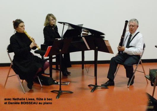 Trio avec le basson, la flûte et le piano